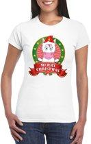 Foute Kerst shirt voor dames - eenhoorn - Merry Christmas S