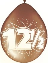 16x stuks Jubileum ballonnen 12,5 jaar - 12,5 jaar getrouwd versiering feestartikelen