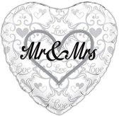 Folie ballonMr & Mrs holografisch 18 inch (45cm)