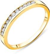 Majestine Eternity Ring 14 Karaat Geelgoud (585) met Diamant 0.20ct maat 52