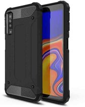 Teleplus Samsung Galaxy A30s Case Double Layer Tank Cover Black hoesje