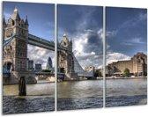 Canvas schilderij Engeland | Grijs, Wit | 120x80cm 3Luik