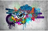 Fotobehang - Graffiti eye