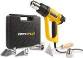 Powerplus POWX1025 Heteluchtpistool - 2000W - Incl. 4 mondstukken en schraper