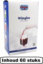 Depa Wijnglas - 150 ml - Plastic - 60 stuks