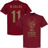 Liverpool Trophy M. Salah 11 Champions of Europe 2019 T-Shirt - Rood - M