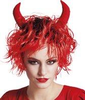 Halloween Pruik Curly Devil