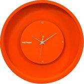 Salt&Pepper Zone wandklok - Klok - Rond - MDF - Ø30 cm - Oranje