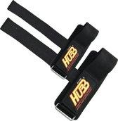 Neoprene Gewichtheffen Pols Straps met Katoen coated rubber voor fitness gewichts Training