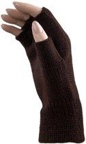 Carnaval vingerloze handschoenen bruin voor volwassenen