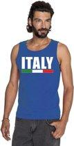 Blauw Italy supporter mouwloos shirt heren - Italie singlet shirt/ tanktop XL