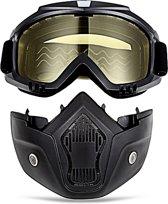 Motor-Fiets-Scooter-Ski bril & Masker I Anti-UV lens I Geel