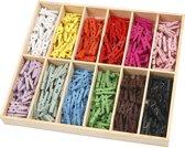Mini wasknijpers - Assortiment, l: 25 mm, kleuren assorti, 288 assorti