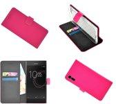 Sony Xperia XZs Wallet Bookcase smartphone hoesje - effen roze