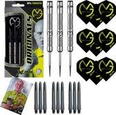 XQ-Max – Michael van Gerwen Originals 90% Tungsten – 23 gram – dartpijlen – plus 3 sets darts shafts en 3 sets darts flights