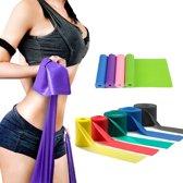 Fitness Yoga Bands Latex Elastische Sport- Weerstandsband- In En Outdoor- Yogaband- Stretchband- Pilates (GROEN)