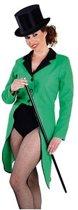 Groene lange slipjas voor dames S (36-38)