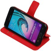 Rood Samsung Galaxy J3 TPU wallet case booktype hoesje HM Book