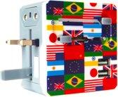 Wereldstekker - Reisadapter - Voor meer dan 150 landen - Engeland (UK) - Amerika (USA) - Australië - Azië - Zuid Amerika - Afrika - Reisstekker – Wereldadapter - 1 stuks