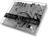 Namen enzo! Naambordje RVS | Acrylglas 30x20 cm barok