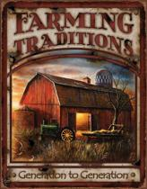 Signs-USA Farming Traditions - Retro Wandbord - Metaal - 40x30 cm