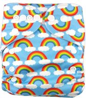 Wasbare pocketluier -  Regenboog