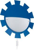 EGLO Leonie Wandlamp Kinderkamer - 1 Lichts - Blauw - Wit Gelakt