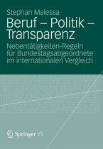 Beruf - Politik - Transparenz