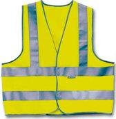 4-act Veiligheidshesje 3 Strepen Unisex Geel Maat Xl