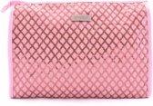 Gérard Brinard toilettas ruiten tas roze - glitter