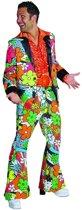 Hippie Kostuum   Bloemen Man Jaren 60 Hippie Kostuum   XL   Carnaval kostuum   Verkleedkleding