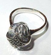 Zilveren Bergkristal Ring maat 18 - 56