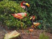 Tuinbeeld - Metalen beeld - Vogel - 50 cm hoog