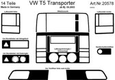 Richter Prewoodec Interieurset Volkswagen Transporter T5 4/2003-9/2009 14-delig - Aluminium