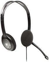 V7 HA201-2EP hoofdtelefoon Stereofonisch Hoofdband Zwart