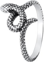 Lucardi - Zilveren ring slang Bali