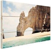 Boog van Cabo Mexico Hout 120x80 cm - Foto print op Hout (Wanddecoratie)