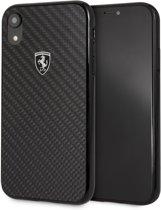 iPhone XR Backcase hoesje - Ferrari - Effen Zwart - Carbon