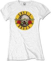 Guns n Roses Dames Tshirt -M- Classic Logo Wit