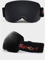 Oversized Skibril Zwart - Anti condens en UV Bescherming