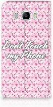 Samsung Galaxy J7 2016 Uniek Standcase Hoesje Flowers Pink DTMP
