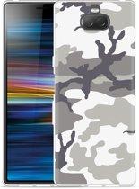 Sony Xperia 10 Hoesje Army Camouflage Grey