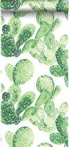 HD vliesbehang waterverf aquarel geschilderde cactussen tropisch jungle groen - 138902 ESTAhome.nl