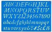 Lettersjabloon italic 20mm H23