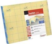 Ondervloer voor laminaat, Isotac goud 10dB, easy click, dikte 5mm, 5m2 per pak, extra geluidsisolerend, voldoet aan de gestelde normen van woningbouwverenigingen