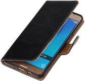 Zakelijke Bookstyle Hoesje voor Samsung Galaxy J7 (2016) Zwart