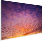 Zonsondergang zorgt voor een kleurrijke hemel in het Duitse Beieren Plexiglas 90x60 cm - Foto print op Glas (Plexiglas wanddecoratie)