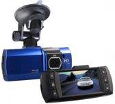 Dashcam D2000 blauw, Full HD, G-sensor, 2.7 inch LCD Scherm, incl. Sandisk Ultra 16GB Micro-SD kaart en Nederlandse handleiding