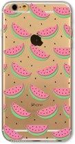 GadgetBay TPU watermeloen hoesje iPhone 5/5s en SE Doorzichtige fruit cover groen roze