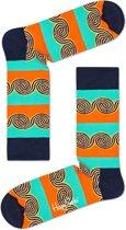 Happy Socks Sokken Windy Stripe Socks Zwart Maat:41-46